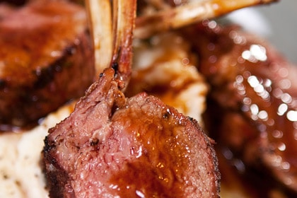 Rack of Lamb Cooked on Primo BBQ Grill